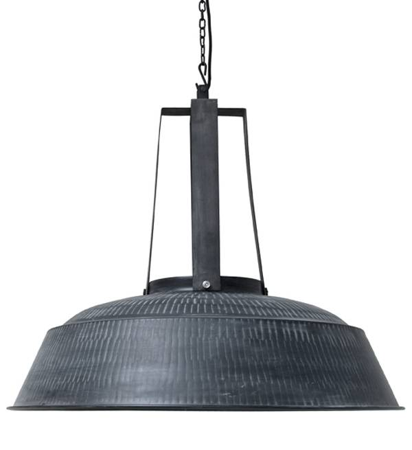 HK Living Lampe suspension industrielle XL - métal noir mat - Ø74 - HK Living