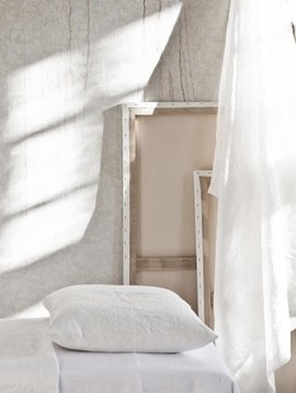 Tell me more Housse de couette 100 % lin lavé - 140x200 - blanc / off white - Tell me more