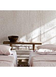 Tell me more Funda nórdica 100% lino lavado piedra - 140x200 - Rosa - Tell me more