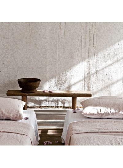 Tell me more Funda nórdica 100% lino lavado piedra - 140x200 Rosa - Tell me more