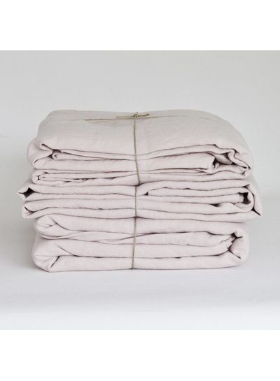 Tell me more duvet cover 100% linen washed - 140x200 - Dusty Rose - Tell me more