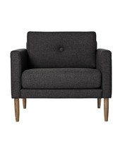 Bloomingville Scandinavian armchair 'Calm' - dark gray - Bloomingville