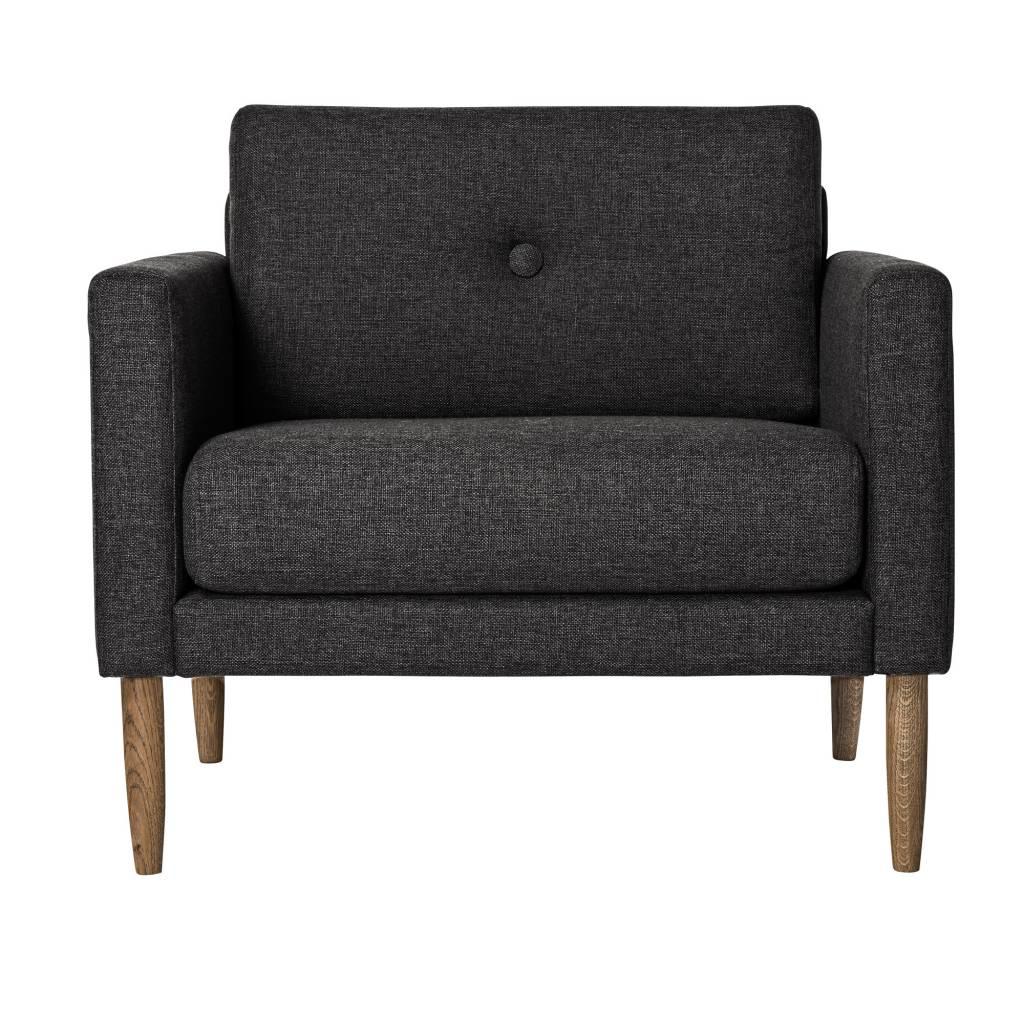 fauteuil scandinave 39 calm 39 gris fonc bloomingville. Black Bedroom Furniture Sets. Home Design Ideas