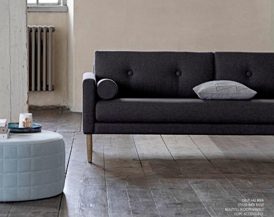 Bloomingville Scandinavian sofa 'Calm' - dark gray - Bloomingville