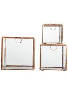 House Doctor Conjunto de 3 cajas de recuerdos - vidrio / cobre - House Doctor