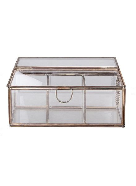 Broste Copenhagen jewelry box glass / copper - Broste Copenhagen