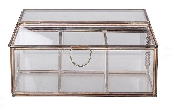 Broste Copenhagen jewelry box glass / copper - Broste Copenhagen