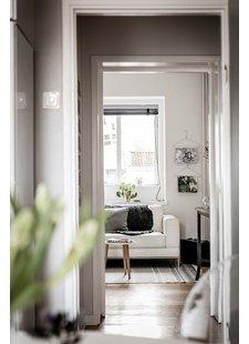 Déco Scandinave avec le tapis block vu sur planete-deco.fr