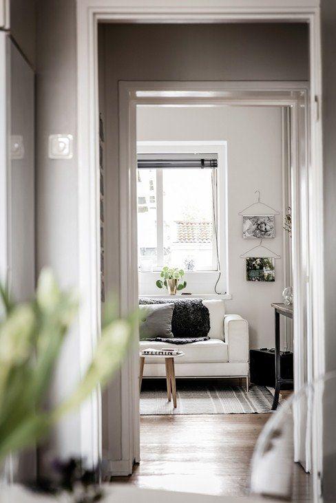 Decoraci n de estilo escandinavo con alfombra tejida de for Alfombras estilo escandinavo
