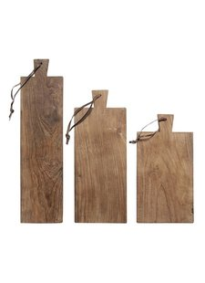 HK Living Set de 3 Tablas para Picar en Teca - HK Living