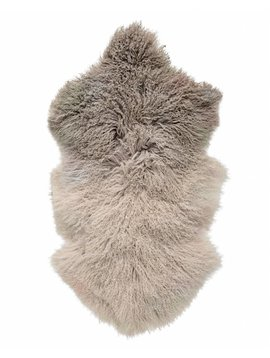 Bloomingville Peau déco d'agneau Tibet - lavée pierre- 50x90cm - Bloomingville