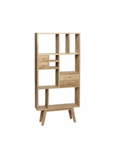 Hubsch Interior Scandinavian shelving unit in Oak - Interior Hubsch