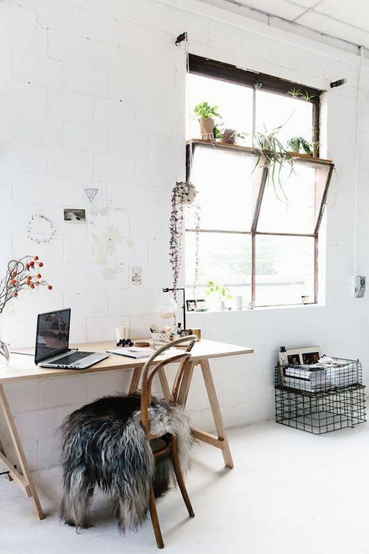 Oficina con Espítiru Escandinavo - visto en Pinterest