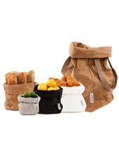 Uashmama Washable Paper Carry Bag 'Two' - Natural Brown - Uashmama