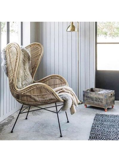 HK Living Rattan egg chair - Natural - HK Living