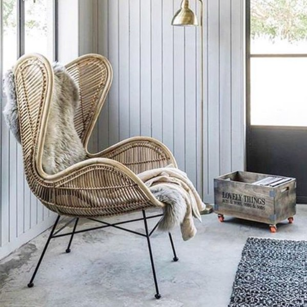 Natural Rattan Egg Armchair Hk Living Petite Lily