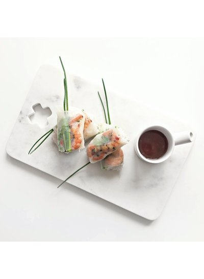 HK Living Tabla para Cortar Pan -  Mármol - Blanco - 30cms- HK Living
