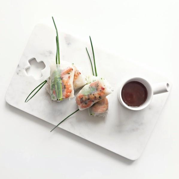 HK Living Planche à pain Marbre blanc croix 30cm- HK Living