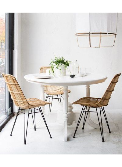 HK Living Rattan dining chair natural - HK Living