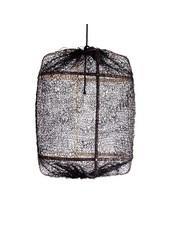 Ay Illuminate Suspension Z5 en Bambou et Sisal- Ø 42 cm - Noire - Ay Illuminate