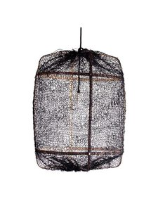 Ay Illuminate Suspension Z5 en Bambou et Sisal- Ø 42 cm - Noire - Ay Illuminate