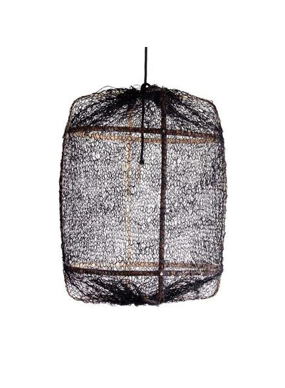 Ay Illuminate Z5 Sisal and Bamboo pendant lamp - Ø 42 cm - Black - Ay illuminate