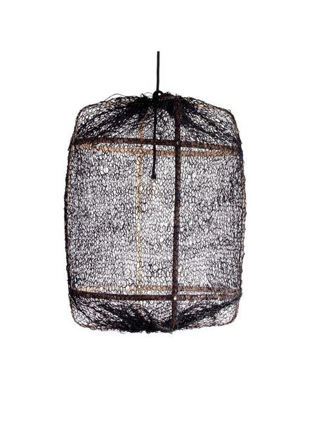 Ay Illuminate Z5 Sisal and Bamboo pendant lamp - Ø 42 cm - Black - Ay illuminate
