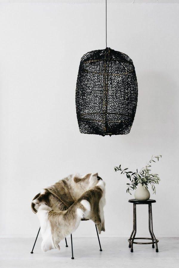 Ay Illuminate Z5 lámpara de bambú y sisal- negra - Ø 42cm x H100cm - Ay illuminate
