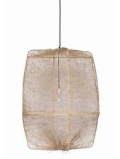 Ay Illuminate ONA Z2 Suspension en bambou et tea sisal - Ø77cm - brun - Ay Illuminate
