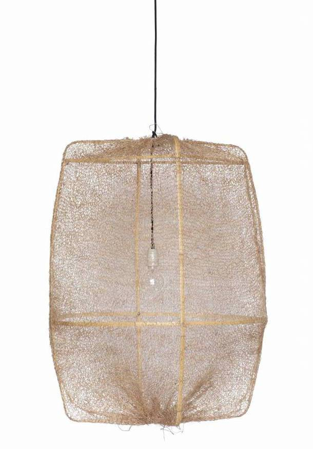 Ay Illuminate ONA Z2 Suspension en bambou et sisal - Ø77cm - brun - Ay Illuminate