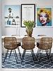 Hubsch Interior Cotton rug Scandinavian - Natural Blue - 120x180cm - Hübsch interior