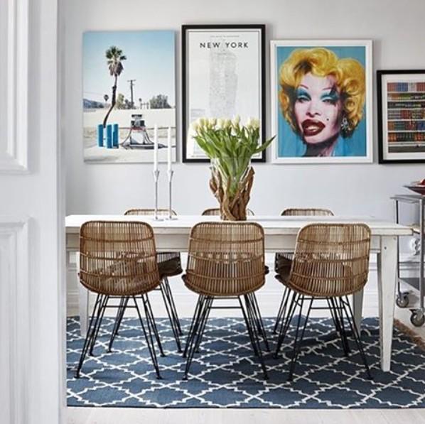 hubsch interior alfombra n rdica de algod n azul et. Black Bedroom Furniture Sets. Home Design Ideas