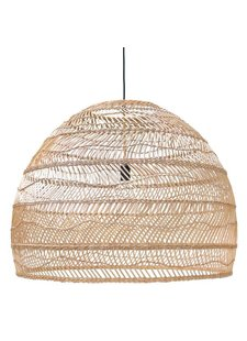HK Living Lampe Suspension en osier - naturel - Ø80cm - HK Living