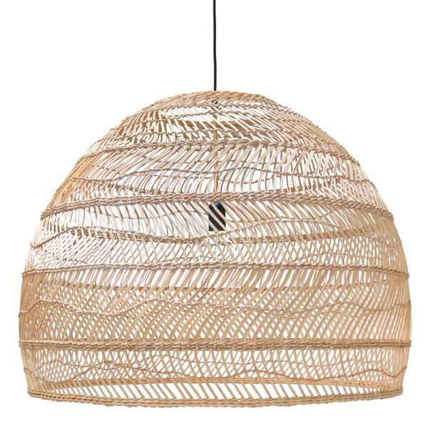 HK Living Lámpara de mimbre - Ø80cm - HK Living