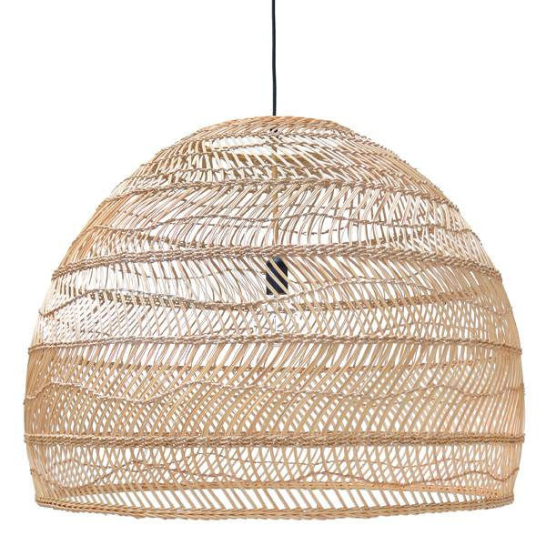 Lampe suspension en osier 80cm hk living par hk living petite lily interiors - Suspension en osier ...