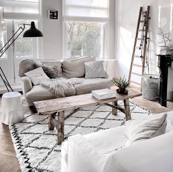 Magnífico Apartamento al estilo Escandinavo Étnico - visto en Instagram @quellejoy