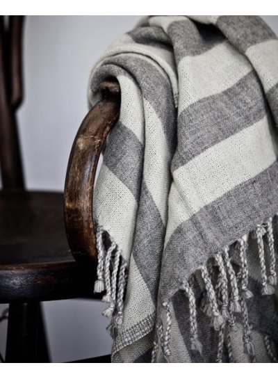Tell me more Scandinavian plaid in wool with grey stripes - Tell Me More