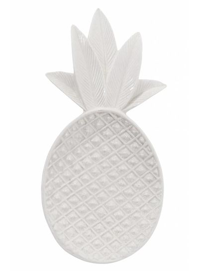 Bloomingville Pineapple Tray - bright white - Bloomingville