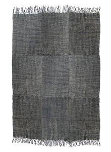 HK Living Tapis Scandinave en lin lavé à la pierre - gris foncé - 230x320cm - HK Living