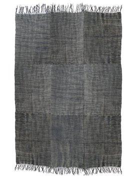HK Living Linen Rug Scandinavian stone washed - dark gray - 155x215cm - HK Living