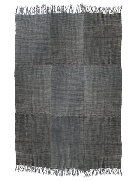 tapis scandinave en lin lav la pierre gris fonc 155x215cm hk living petite lily. Black Bedroom Furniture Sets. Home Design Ideas