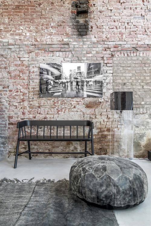 HK Living Alfombra de Lino - Prelavada en piedra- Gris Oscuro - 155x215cm - HK Living