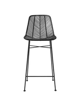 Bloomingville Rattan bar stool - Black - Bloomingville