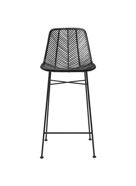 Bloomingville Rattan bar stool - Black - Bloomingville