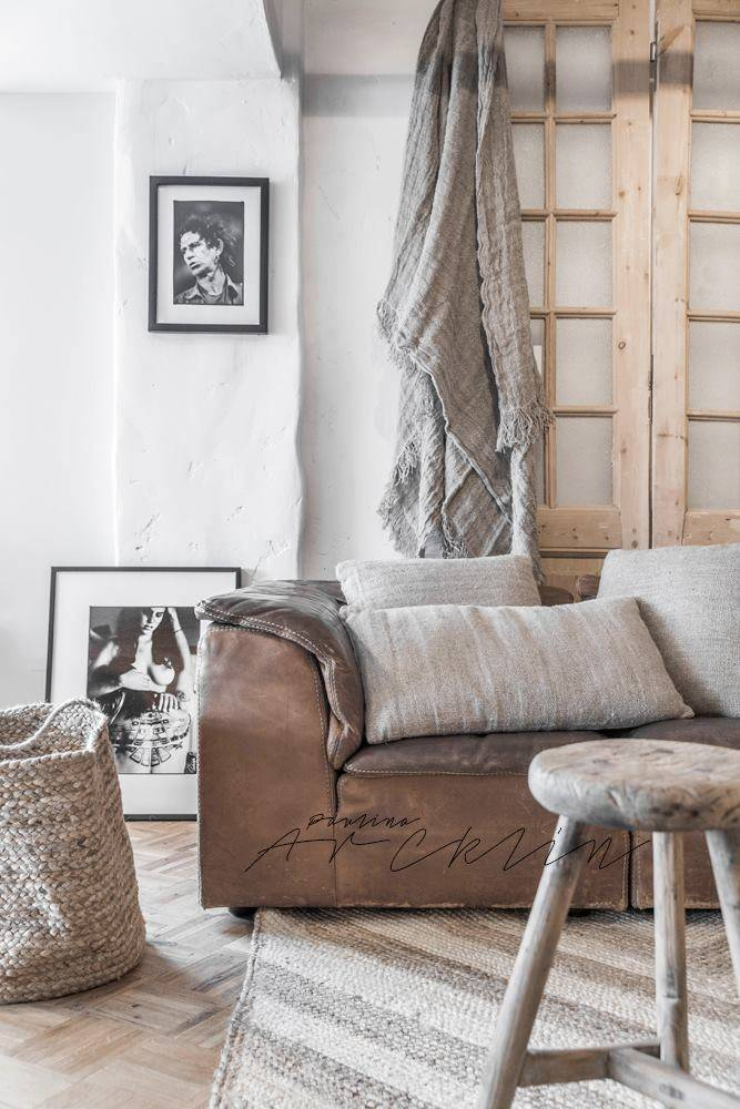Ambiance scandinave ethnique avec le tapis chanvre par AAI made with love - Styling par Paulina Arcklin