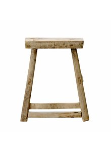 Bloomingville Stool - natural elm wood - Bloomingville