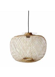 Bloomingville Lámpara de Suspensión de Bambú - Natural - Ø42xH30cm - Bloomingville
