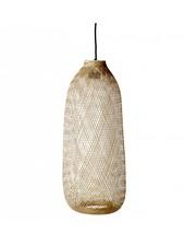 Bloomingville Lampe Suspension Bambou - naturel - Ø24xh65cm - Bloomingville