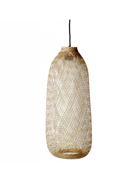Bloomingville Lampe Suspension Bambou - naturel - Ø24xh65cm - Bloomingville