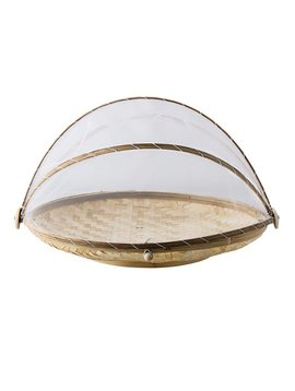 Bloomingville Bamboo tray with net - Natural - Ø40-45cm - Bloomingville